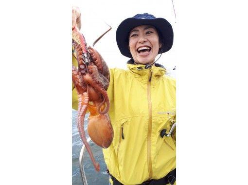 【東京・羽田】タコ便 乗り合い 初心者、女性、お子様大歓迎♪120分 釣ったタコはお店紹介可♪