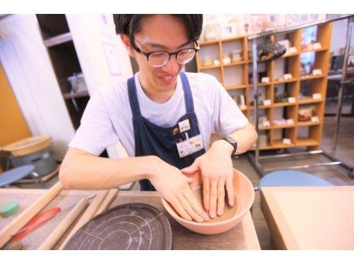 【大阪梅田駅歩5分】銘々板皿陶芸体験☆直径約14~15㎝の板ものを手作り☆おうちごはんも楽しめます☆