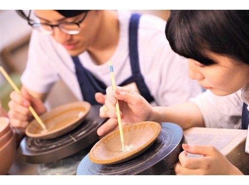[福岡天神]製作名牌盤子的陶瓷藝術體驗☆直徑約15厘米的手工盤子,您可以享用家常米飯♪の紹介画像