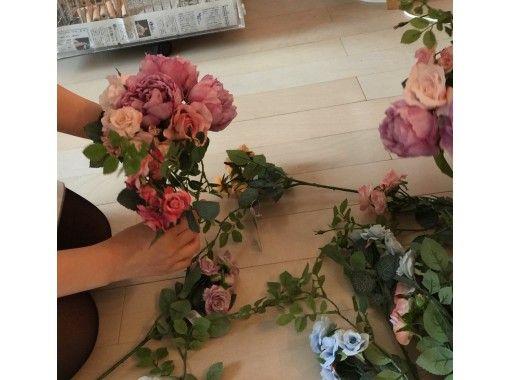 【東京・日本橋】アーティフィシャル―フラワーを素敵にアレンジ「スワッグ(壁掛け)」手ぶらでOK・水天宮前駅から徒歩5分!の紹介画像