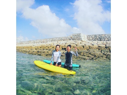 【糸満・北谷】☆初心者☆歓迎!日本サーフィン連盟公認指導員による、はじめてのサーフィン体験