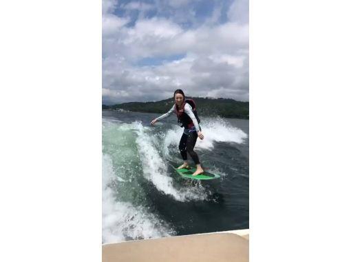 山中湖の最高のロケーションでウェイクサーフィン体験 初心者体験プラン