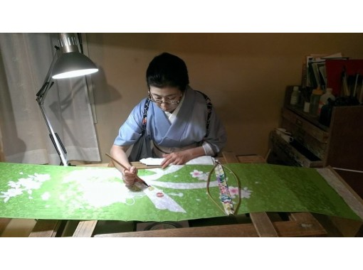 【広島・中区】絵付け体験 - 手描き友禅作家ワークショップの紹介画像