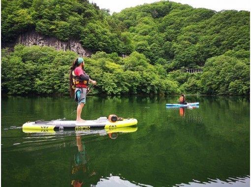 【群馬・水上】雄大な山々に囲まれた波のない穏やかな湖で半日SUPツアー~大自然の素晴らしさを感じようの紹介画像