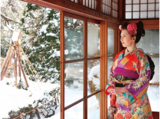 [秋田·Odate]在和服中走大调!传统文化体验&秋田与狗♪的纪念照片の紹介画像