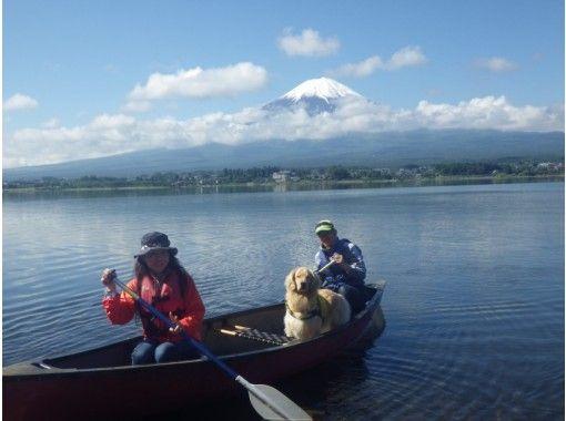 [야마나시· 가와구치] 애견과 함께 호수 산책! 카누 개 양성 강좌! ? 애완 동물과 즐기는 카누 체험の紹介画像