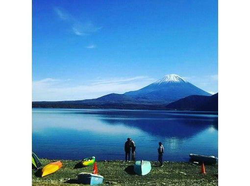 【山梨・富士五湖・本栖湖】選べる時間帯!本栖湖カヤック体験・富士山を眺めながら絶景クルージング120分プラン