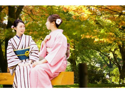 【東京・銀座・着物レンタル】ヘアセット付き!本格着物一式レンタル&着付けプラン