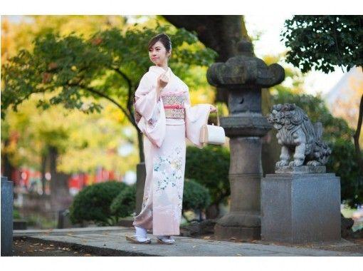 【東京・池袋・着物レンタル】ヘアセット付き!本格着物一式レンタル&着付けプラン