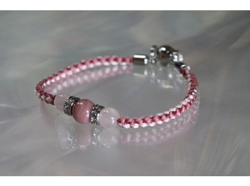 [Kyoto Nijo Jokita] Experience making bracelets (anklets are also possible) of power stones and Kyoto braids (braids)の紹介画像