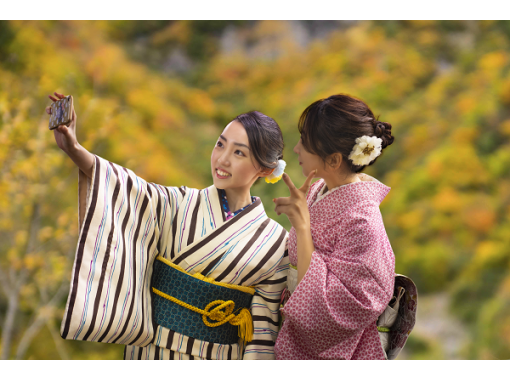 【金沢・兼六園・着物レンタル】ヘアセット付!本格着物一式レンタル&着付けプラン