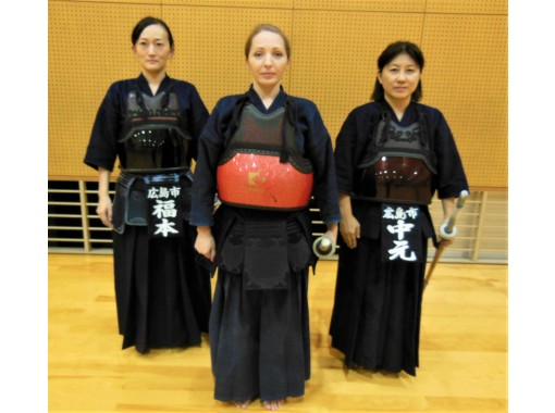 """[Hiroshima · downtown] Kendo experience (Equipment Rental & TENUGUI towel present) Experience Japanese martial arts """"心・技・体 (train mentally, technically and physically)""""の紹介画像"""