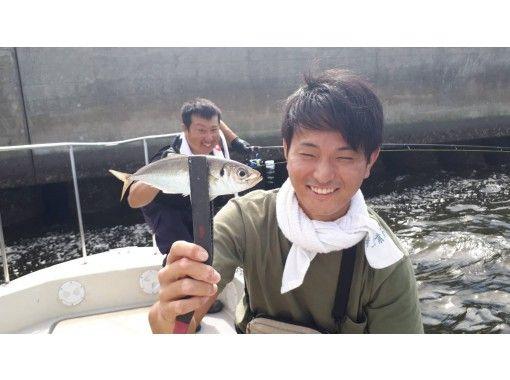 【東京・羽田】乗り合い船♪餌付け不要!!!「アジ爆釣便 120分」初心者、女性、お子様、大歓迎!