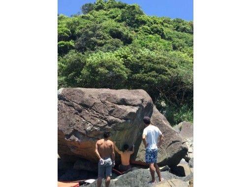 【外岩に挑戦!】屋久島の岩を登る!ボルダリングマットレンタル【トポ・チョークセット】