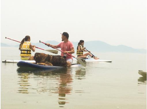 【滋賀・大津】びわ湖・SUP体験 愛犬と一緒にSUP体験&クルージング!