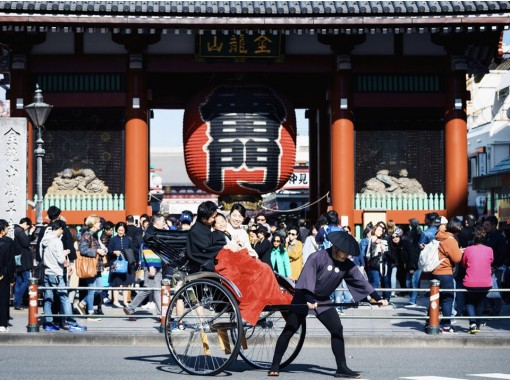 【東京・浅草】空いた時間で浅草を楽しめます!人力車御乗車体験(15分コース)