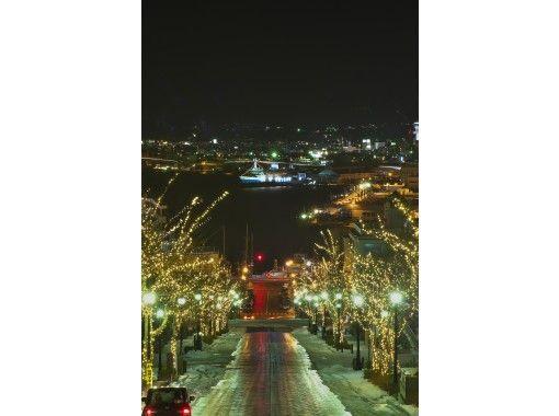 [北海道函館]觀光出租車夜遊船路線!配香檳,花束,照片照の紹介画像
