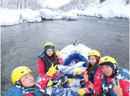 ≪Snow View Rafting silvery world with a beautiful snowy landscape! ! Winter inspiring adventure experience ♪の紹介画像