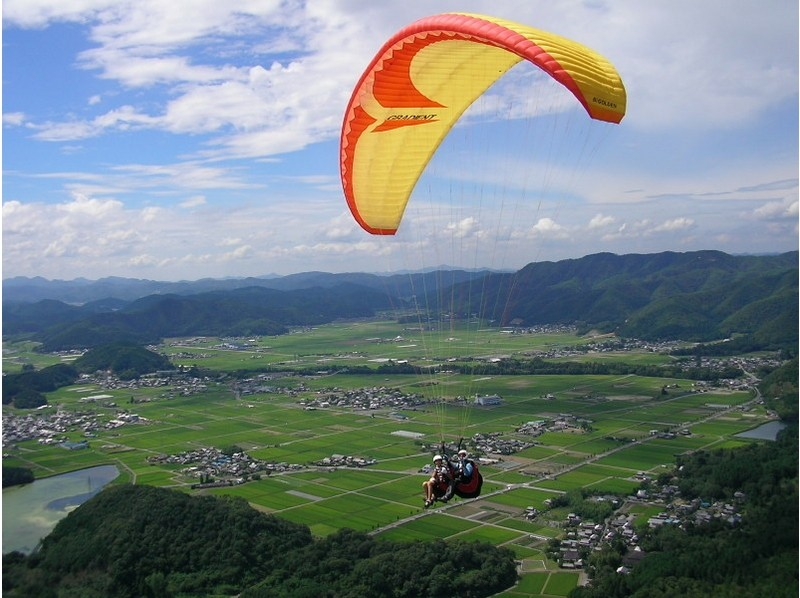 [Parapaku Kyoto] There is free pick-up! Paragliding experience 470m tandem flight course of the introduction image