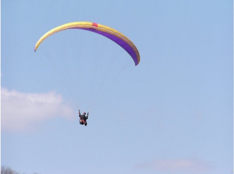 [Kyoto Kameoka] There is free pick-up! Paragliding experience challenge introduction image of the course (90 minutes)