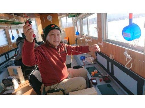 [山梨县/山中湖]在圆顶船上钓鱼体验计划! (含杆、噱头费)の紹介画像