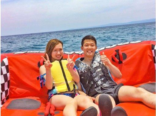可以使用地區通用的優惠券♪[沖縄/古宇利島]每組有安全的租船經驗!輕鬆的海上體驗♪經典大大理石15分鐘計劃の紹介画像