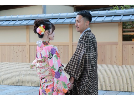 """京都四條和服出租""""情侶計劃+寫真集""""將贈送紀念這兩個的相冊♪の紹介画像"""