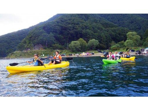 【山梨・西湖】初心者でも安心の湖上散策!レクチャー付きカヤックレンタル 3時間