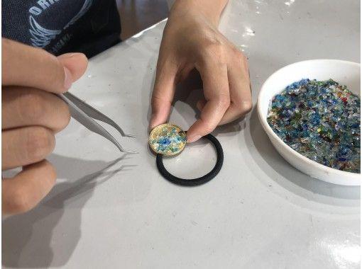 《地域共通クーポン利用可能店》【沖縄・石垣島】琉球ガラスを詰め込んだオリジナル ヘアゴム作り
