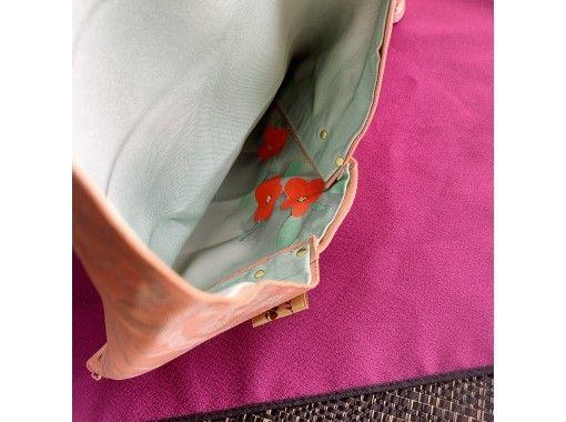 ②【大阪・箕面】着物・帯を使った縫わない袱紗数寄屋袋作り 桜井駅までの送迎ありの紹介画像