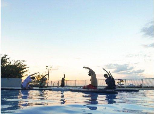 【滋賀・琵琶湖】露天プールで夕やけSUP Yogaしよう!の紹介画像