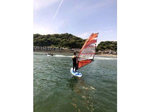 湘南・鎌倉・ウインドサーフィン(地域共通クーポン利用可能)プラン体験コース+南欧風クラブハウス・絶景屋上体験・写真付きのコピー