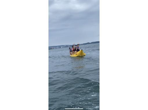 【和歌山県・田辺市】《バナナボート》南紀白浜で最新・最先端のマリンスポーツ超新感覚体験ができる!で一直線に海を駆け抜けろ!