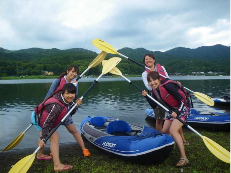 """Introduction image of your walk !! beginner Own the Lake Yamanaka """"inflatable canoe experience"""""""