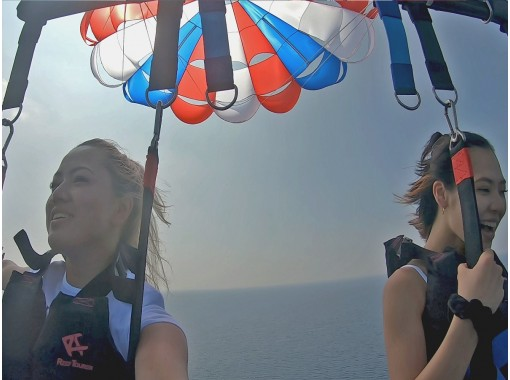 [From Chatan Fisherina, Okinawa Parasailing! A 5-minute walk from American Village, On the day reservations are OK!の紹介画像