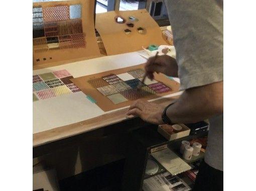 【大阪・空堀】一組さま限定・築200年以上の古民家雑貨店で型染め体験-ブックカバーコース。様々な型で世界で一つの作品を作りましょうの紹介画像
