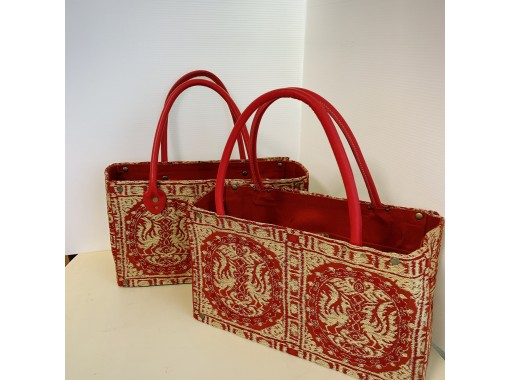 ⑥縫わない帯バッグ トートタイプ 桜井駅まで送迎あり