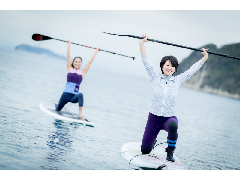 【Shonan · Zushi】 It is safe because it is a small group system. Introduction image of stand-up paddle board experience (half day course)