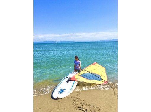 【大分・住吉浜リゾートパーク】「ウィンドサーフィン」レンタル2時間プラン。初心者用ギアの紹介画像