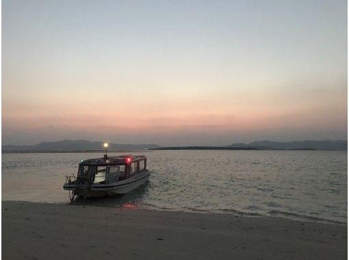 【沖縄・久米島】【オンライン体験】仲村船長と行く! 一度で3回楽しめる東洋一美しい浜 「ハテの浜」サンセットクルーズ
