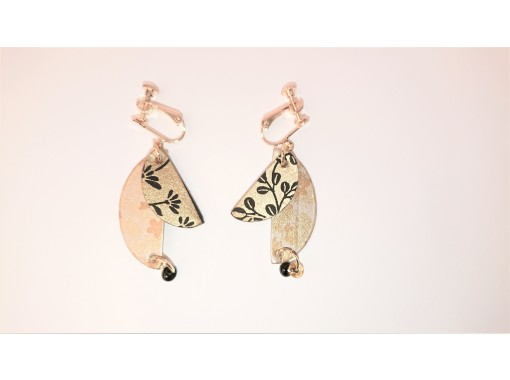 [Gifu / Mino] Recommended for girls traveling! Fashionable Mino Japanese paper earrings handmade experience! [Free service] Gachapon once! Original Japanese miscellaneous goods gachaの紹介画像