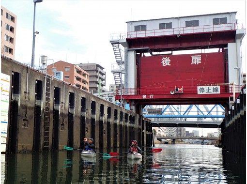 """[Tokyo / Edogawa] Exploring Tokyo with a full-scale Sea kayak Tokyo Waterway Kayak Tour (1day)""""の紹介画像"""