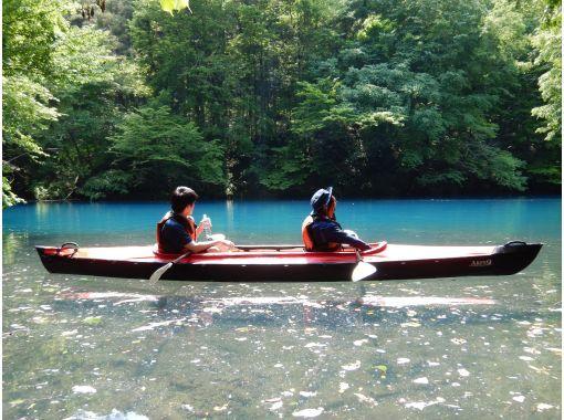 【群馬・吾妻】青い湖・四万湖で癒しの半日カヌーツアー!家族、友人、恋人と素敵な時間を♪の紹介画像