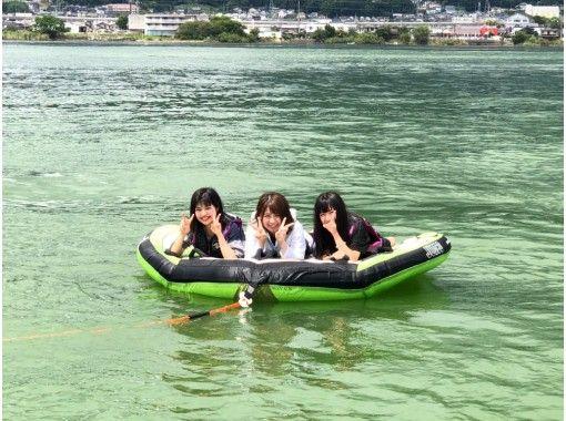 【滋賀・琵琶湖】☆スリル満点☆ぶっ飛びトーイングチューブ☆彡(バナナボートorチューブ)体験♪