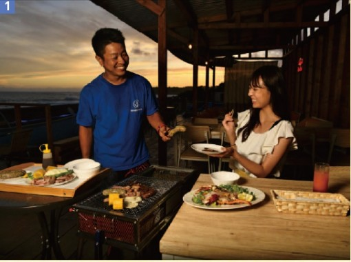 [Feel free SUP experience 60 minutes + glamping BBQ standard] Play! eat! A very satisfying plan that includes marine sports and empty-handed BBQ ♪の紹介画像