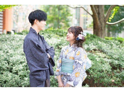 """[Ginza, Tokyo] 2021 new retro yukata! With hair set! """"Complete rental & dressing plan"""" Free rental of umbrellas on rainy days!の紹介画像"""