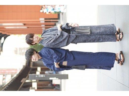 【神奈川・鎌倉】2021年新作レトロ浴衣!ヘアセット付き!「一式レンタル&着付けプラン」雨の日は雨傘無料貸出!の紹介画像