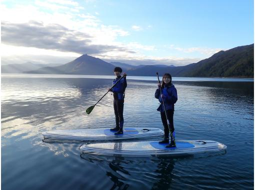 First in Hokkaido! Clear SUP (SUP) Warm cruising with a dry suit that does not get wet all over! Water quality is the best in Japan for more than 10 years. It is safe at the only local shop in Lake Shikotsu!の紹介画像