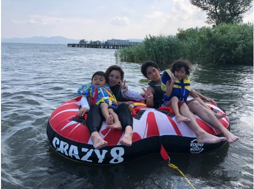 [Playing in the water] Attractions on the water! Tubing with jet ski! Anyone can easily do it! On the way home from the beach! Please use after the wake plan!の紹介画像