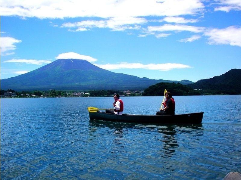 [山梨縣河口湖]引入圖像的加拿大獨木舟體驗